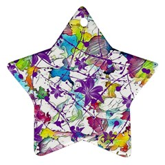 Lilac Lillys Star Ornament (Two Sides)