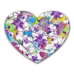 Lilac Lillys Heart Mousepads