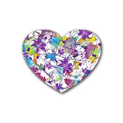 Lilac Lillys Heart Coaster (4 pack)