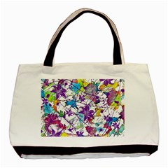 Lilac Lillys Basic Tote Bag (two Sides)
