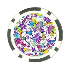 Lilac Lillys Poker Chip Card Guard