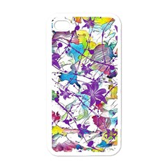 Lilac Lillys Apple Iphone 4 Case (white)