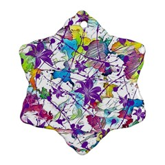 Lilac Lillys Snowflake Ornament (Two Sides)