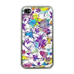 Lilac Lillys Apple iPhone 4 Case (Clear)