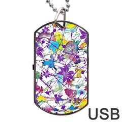 Lilac Lillys Dog Tag USB Flash (One Side)