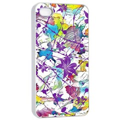 Lilac Lillys Apple iPhone 4/4s Seamless Case (White)