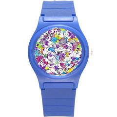 Lilac Lillys Round Plastic Sport Watch (s)