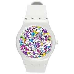 Lilac Lillys Round Plastic Sport Watch (M)