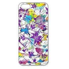 Lilac Lillys Apple Seamless iPhone 5 Case (Clear)