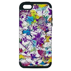 Lilac Lillys Apple iPhone 5 Hardshell Case (PC+Silicone)