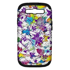 Lilac Lillys Samsung Galaxy S Iii Hardshell Case (pc+silicone)