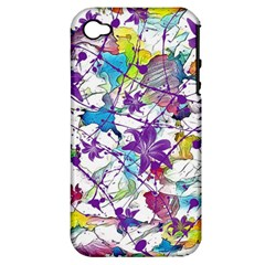 Lilac Lillys Apple iPhone 4/4S Hardshell Case (PC+Silicone)