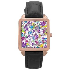 Lilac Lillys Rose Gold Leather Watch