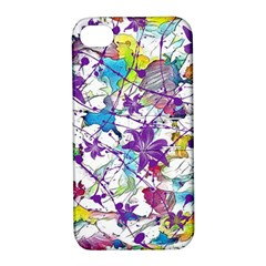 Lilac Lillys Apple Iphone 4/4s Hardshell Case With Stand