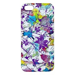 Lilac Lillys Apple iPhone 5 Premium Hardshell Case