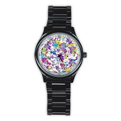 Lilac Lillys Stainless Steel Round Watch