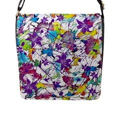 Lilac Lillys Flap Messenger Bag (L)