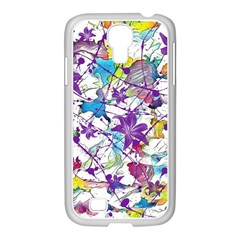 Lilac Lillys Samsung GALAXY S4 I9500/ I9505 Case (White)