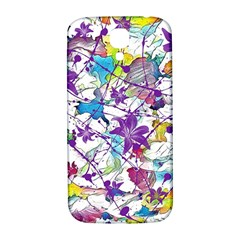 Lilac Lillys Samsung Galaxy S4 I9500/I9505  Hardshell Back Case