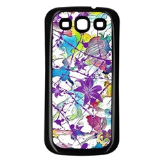 Lilac Lillys Samsung Galaxy S3 Back Case (Black)
