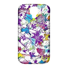 Lilac Lillys Samsung Galaxy S4 Classic Hardshell Case (pc+silicone)