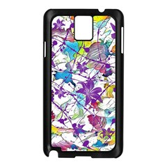 Lilac Lillys Samsung Galaxy Note 3 N9005 Case (Black)