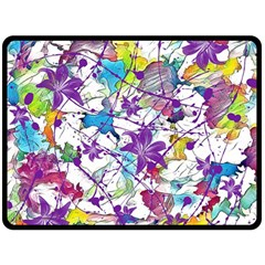 Lilac Lillys Double Sided Fleece Blanket (large)