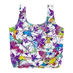 Lilac Lillys Full Print Recycle Bags (l)
