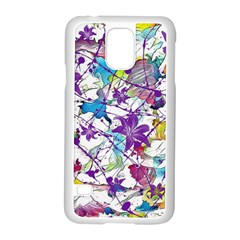 Lilac Lillys Samsung Galaxy S5 Case (white)