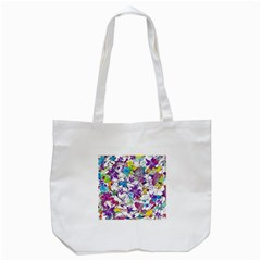 Lilac Lillys Tote Bag (White)