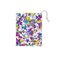 Lilac Lillys Drawstring Pouches (Small)