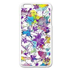 Lilac Lillys Apple iPhone 6 Plus/6S Plus Enamel White Case