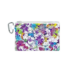 Lilac Lillys Canvas Cosmetic Bag (S)