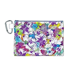 Lilac Lillys Canvas Cosmetic Bag (M)