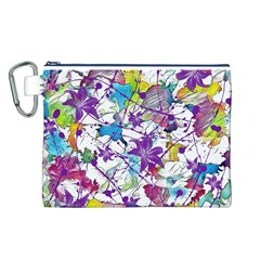 Lilac Lillys Canvas Cosmetic Bag (L)