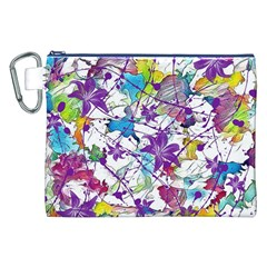 Lilac Lillys Canvas Cosmetic Bag (XXL)