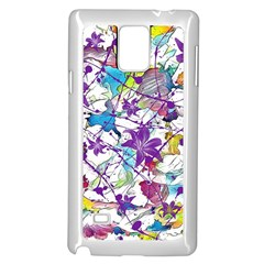 Lilac Lillys Samsung Galaxy Note 4 Case (white)
