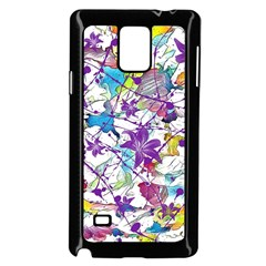 Lilac Lillys Samsung Galaxy Note 4 Case (black)