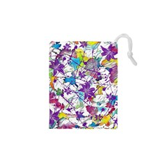 Lilac Lillys Drawstring Pouches (XS)