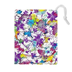 Lilac Lillys Drawstring Pouches (extra Large)