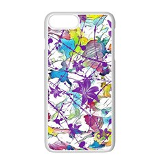 Lilac Lillys Apple Iphone 7 Plus White Seamless Case