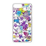 Lilac Lillys Apple iPhone 7 Plus White Seamless Case Front