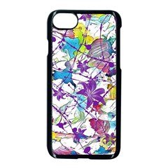 Lilac Lillys Apple Iphone 7 Seamless Case (black)