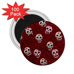 Funny Skull Rosebed 2.25  Magnets (100 pack)