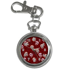 Funny Skull Rosebed Key Chain Watches