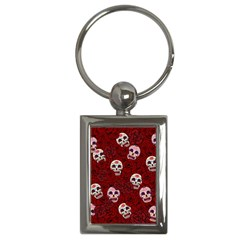 Funny Skull Rosebed Key Chains (Rectangle)