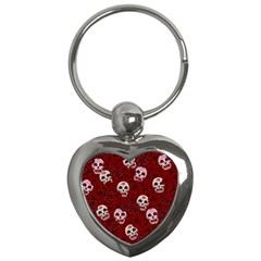 Funny Skull Rosebed Key Chains (Heart)