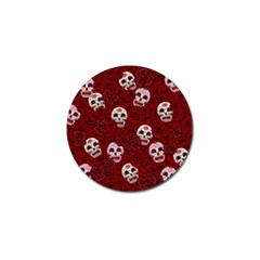 Funny Skull Rosebed Golf Ball Marker (4 pack)