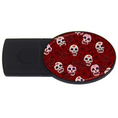 Funny Skull Rosebed USB Flash Drive Oval (1 GB)