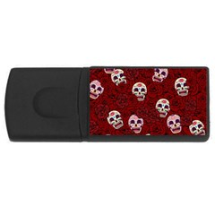 Funny Skull Rosebed USB Flash Drive Rectangular (1 GB)